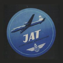Vintage Airline label Jugoslavia luggage label #497